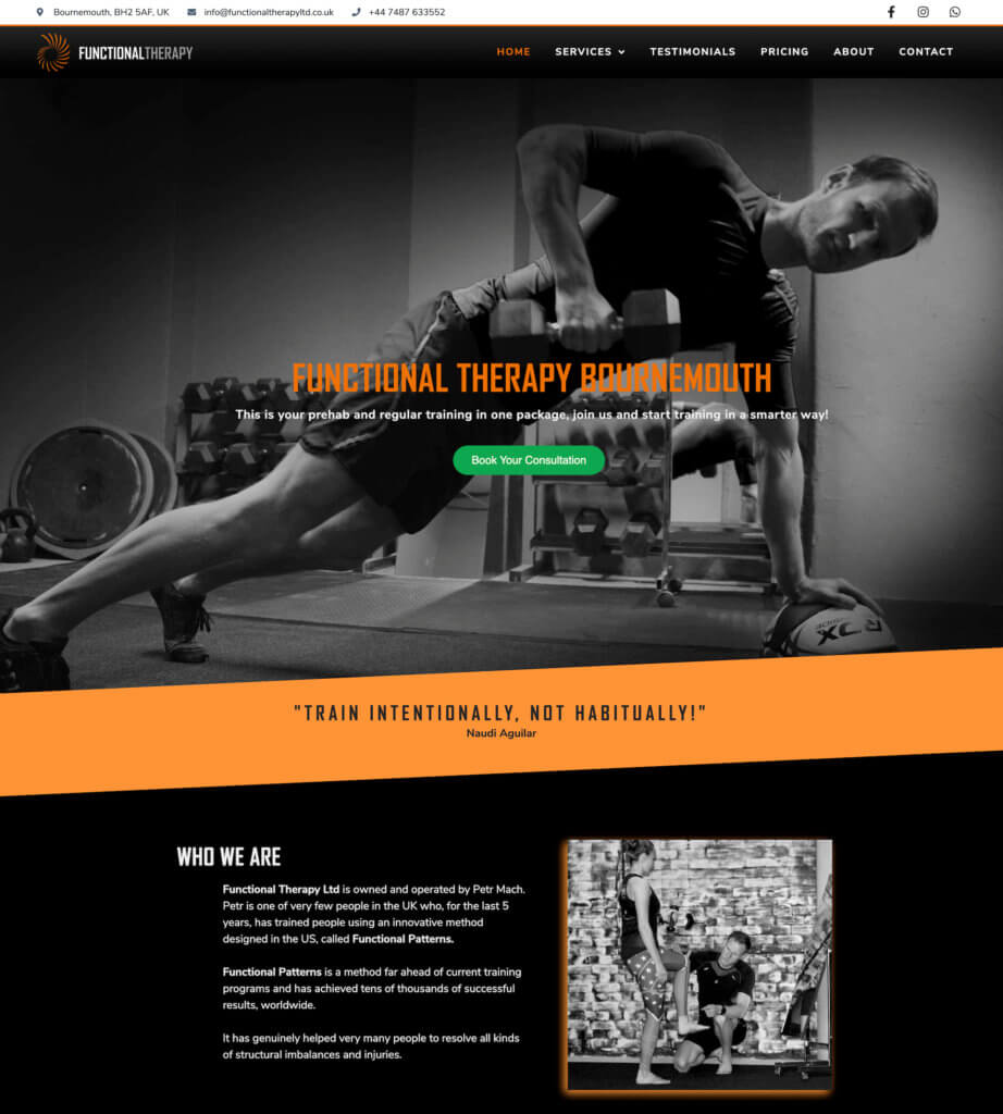 front page functional therapy